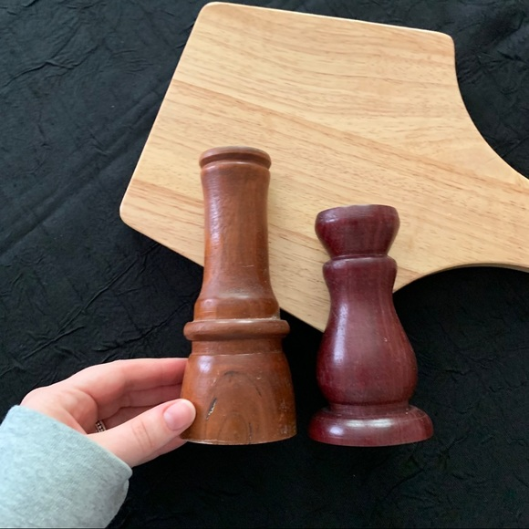 Wooden Taper Candlestick Holders (2 Count)